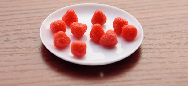 Strawberry Cabochon (10 pcs) Dollhouse Fruit Toppings Sweets Deco