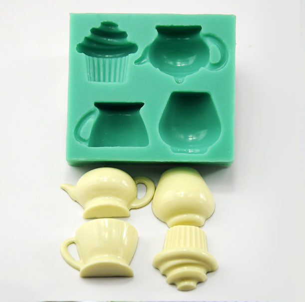 pcake, Tea, Cup, and Vase Silicone Mold