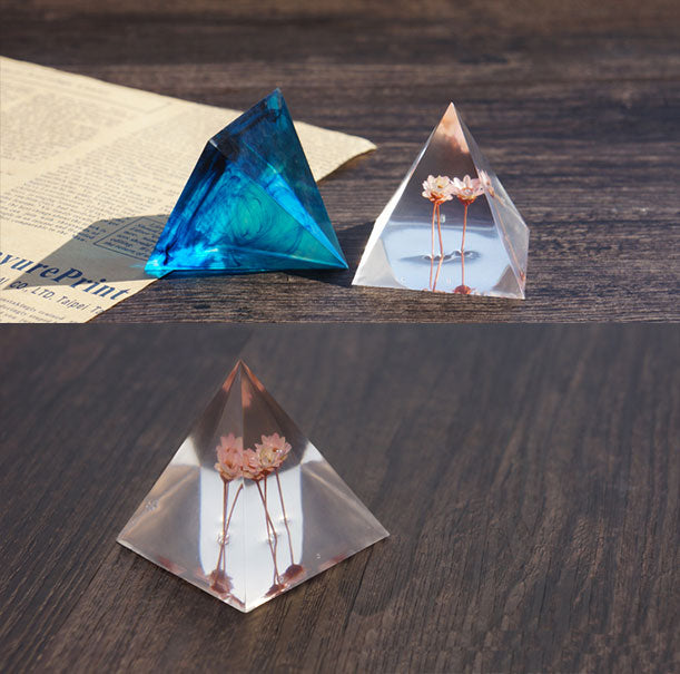 pyramid silicone mold ab resin