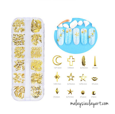 Accessories for epoxy / diy accessories star, moon, feather assorted design
