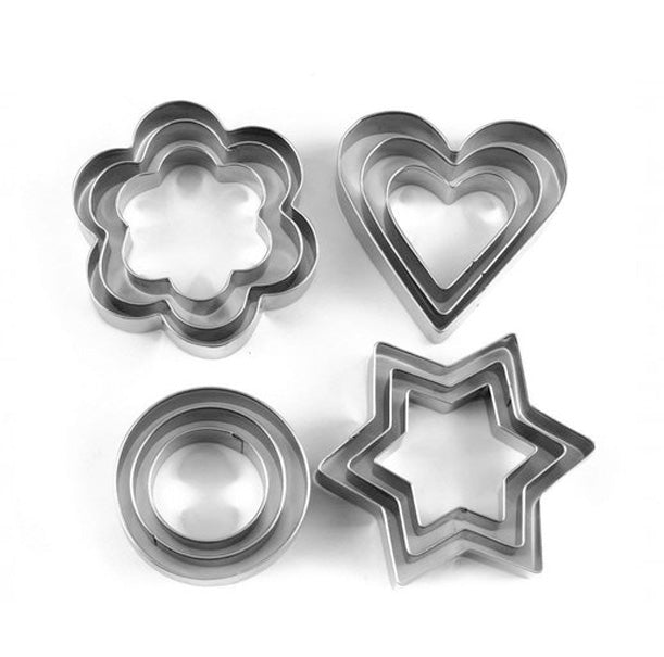 12 Pieces Cookie Cutter Stainless Steel Cookie Cutter with Different Shape