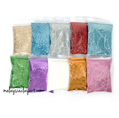 Fine powder glitter 60grits 0.3mm 50g pack