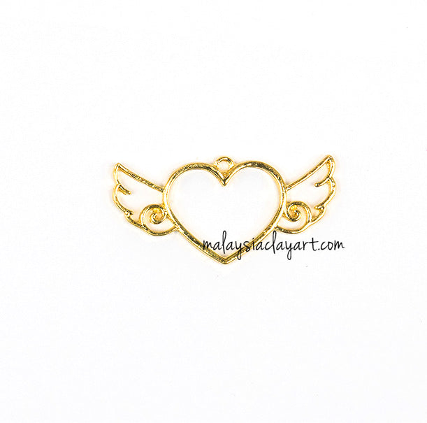 Heart With Angel Wing Setting Design Frame