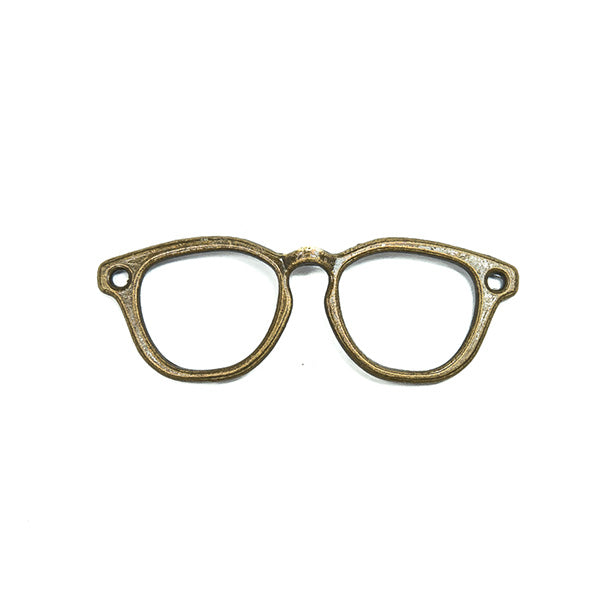 1 x Spectacles Glasses Necklace Pendant Shape Frame Bronze