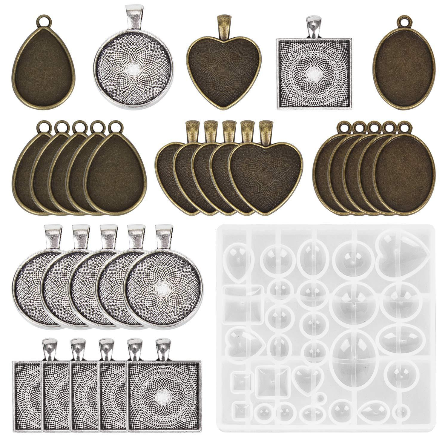 Epoxy Resin UV Resin DIY Jelwery Pendent Set 31pcs