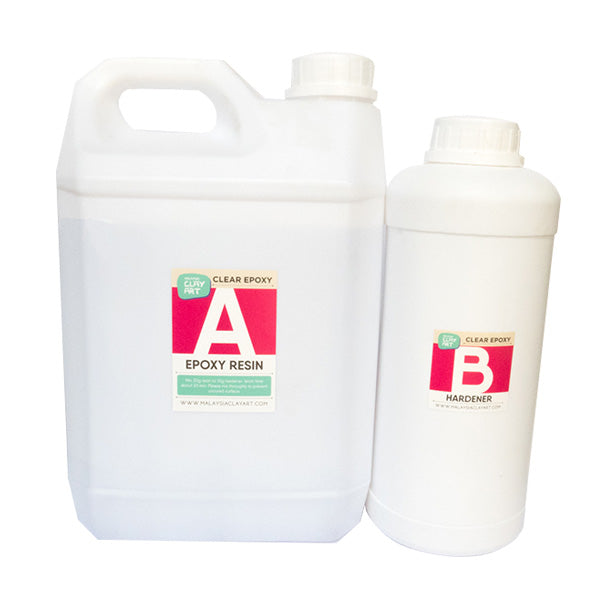 Clear Epoxy Resin | AB Resin Liquid 4kg (3kg +1kg)