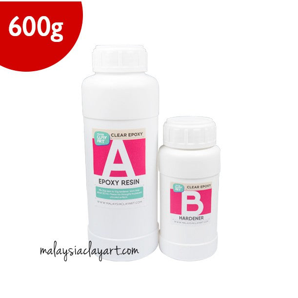 AB Resin Liquid (450g + 150g) | Clear Epoxy | Malaysia Resin For Wood & Craft