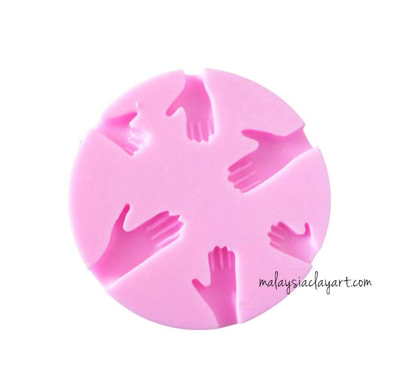 Small Hand Silicone Mold - 6 Cavity