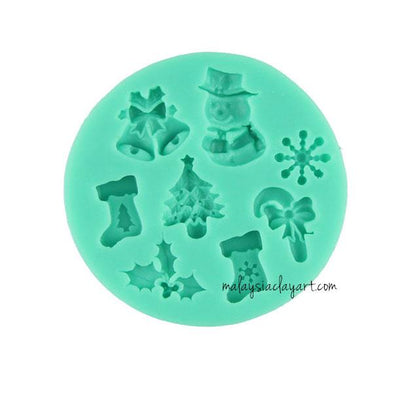 Christmas Element Silicone mold - 8 Designs