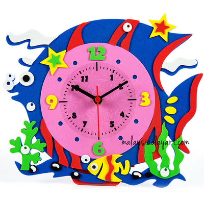 DIY Eva Foam Clock Craft Kit Project Pack
