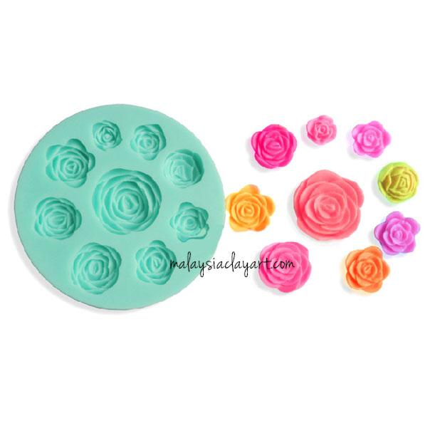 Rose Silicone Mold - 9 Designs