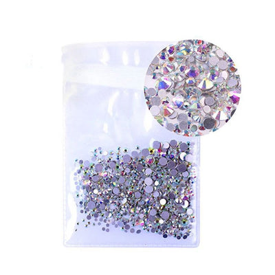 DIY Faux Pearl Rhinestones Crystal Beads Accessories Mix Sizes Pack