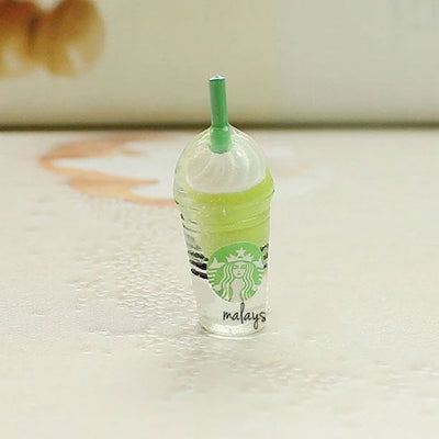 1 x Mini Greentea Starbucks Frappuccino Decoden | Cute Cabochons