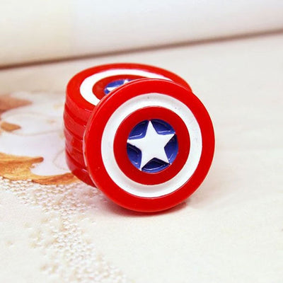 2 x Captain America Shield Decoden Charm | Cute Cabochons