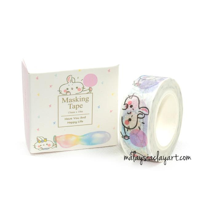 Cute rabbit Japanese style masking tape