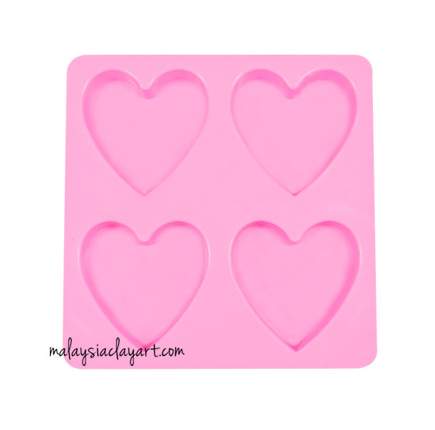 Love shape Silicone Mold - 4 Cavity