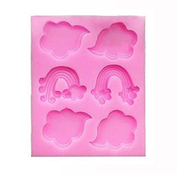 Rainbow Cloud Silicone Mold 6 Cavity