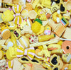 10 x Yellow Assorted Mix Kawaii Decoden Kit Cute Cabochons