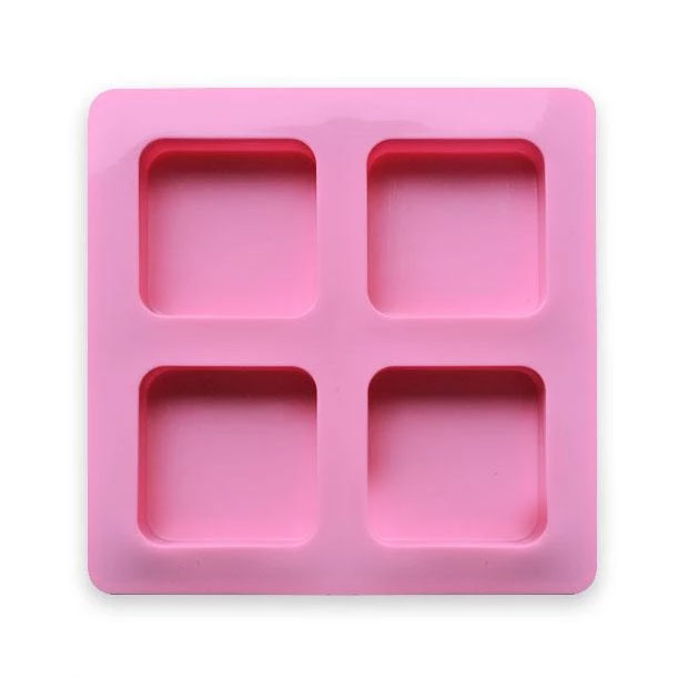 Square Silicone Mold - 4 Cavity (AB Resin)