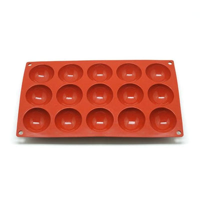 Semi Sphere Silicone Mold - 15 Cavity x 38mm (AB Resin)