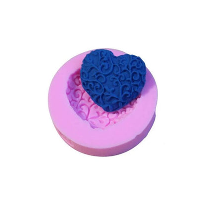 Floral Love Shaped Soap Silicone Mold