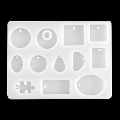 Silicone Mold For Pendant | Earrings | Gemstones - 12 Cavity - AB Resin Liquid