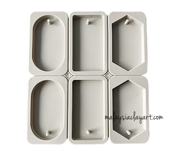 Scented Wax Tablet Aroma Silicone Mold With Hole For Hanging 6 cavity