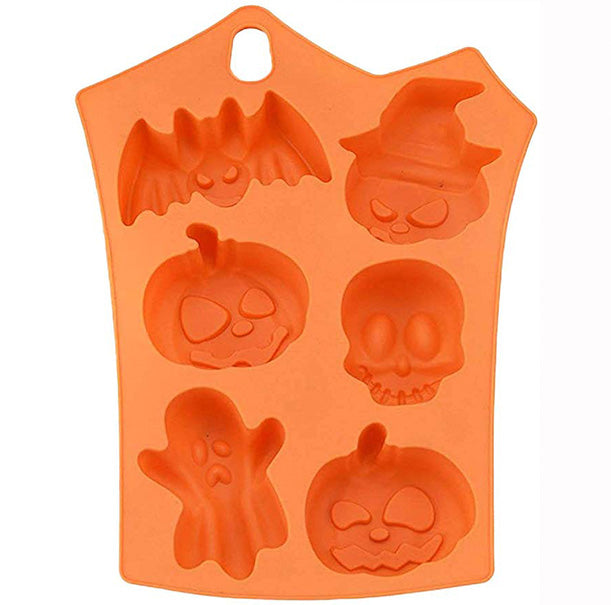 Halloween Pumpkin Silicone Molds 6-Cavity