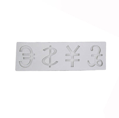 Currency Unit Shape High Gloss Silicone Mold 4 Cavity