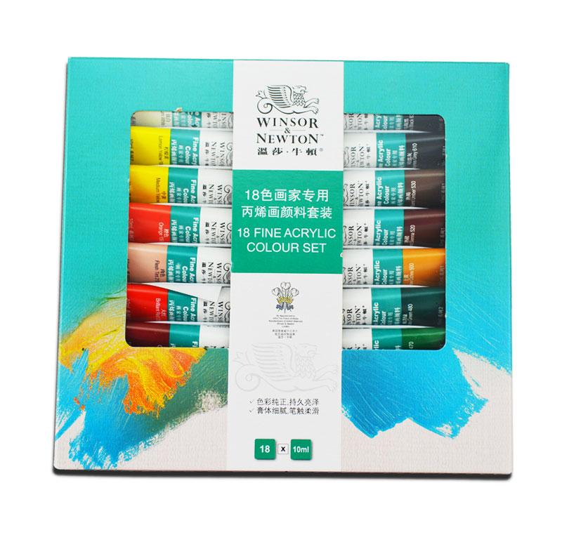 Winsor & Newton 18 Fine Acrylic Colour Set