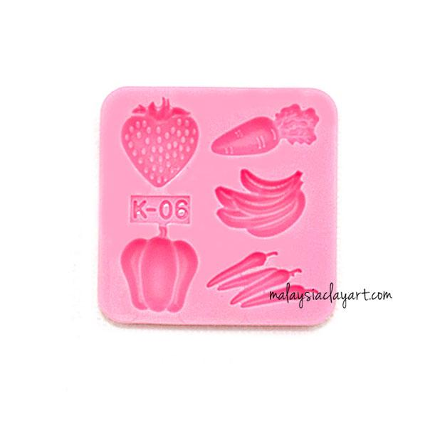 Miniature Small Assorted Fruits Silicone Mold