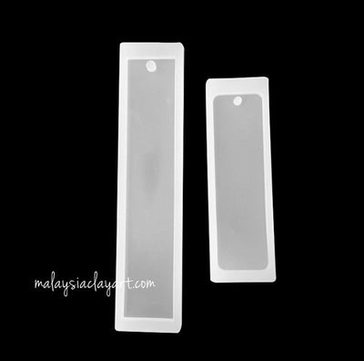2 x Plain Rectangular Bookmarks Silicone Mold