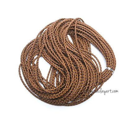 Braided Leather Cord 1 Meter Bracelet Necklace