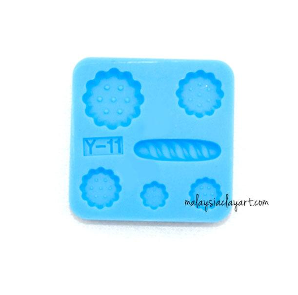 Miniature Small Bread Pastry Cookie Silicone Mold