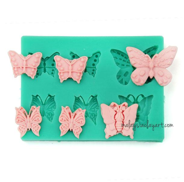 Butterfly Silicone Mold - 6 Cavity