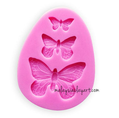 Butterfly Silicone Mold - 3 Sizes