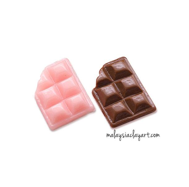 Set Of A Pink & Chocolate Miniature Bar Decoden | Cute Cabochons