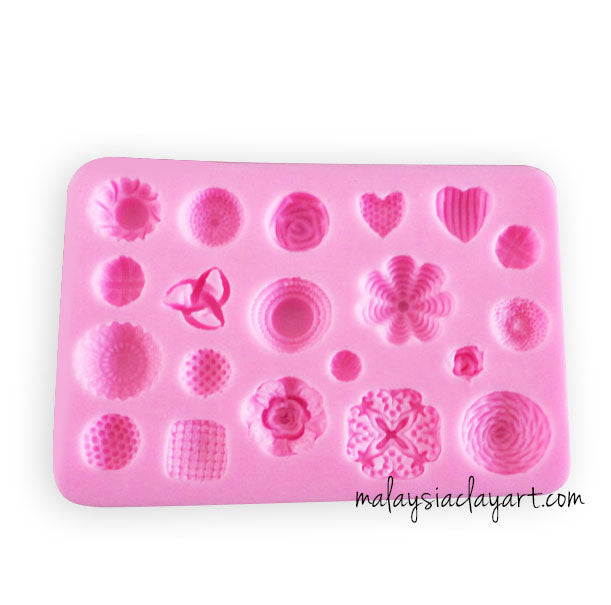 Chocolate Cake Decorations Silicone Mold - 20 Designs