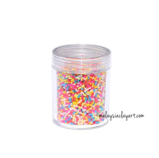 1 x Decoden Fake Colorful Chocolate Sprinkles Topping Faux Chocolate Flakes