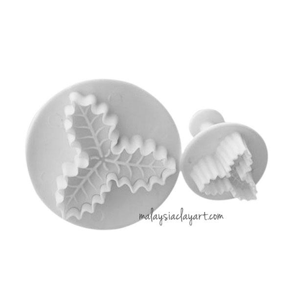 Christmas Leaf Plunger Cutter - Set of 2
