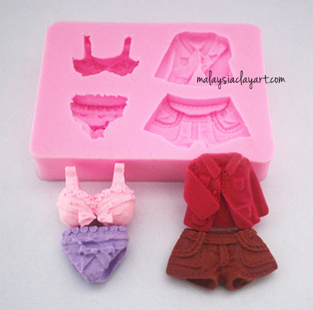 Clothes Underwear Shirt Pants Silicone Mold