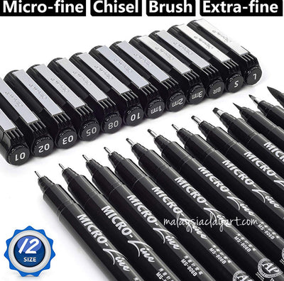 8 Pcs Fine Line Technical Drawing Pen Set | Waterproof | Comic Pen Set