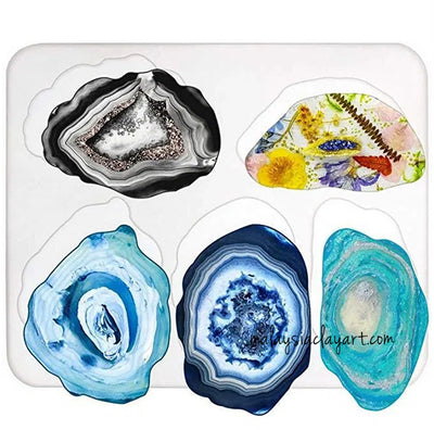 Large Geode Coaster Silicone Mold