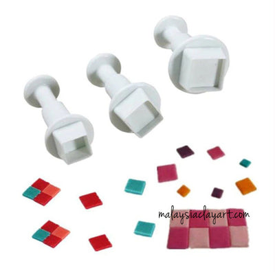 Square Plunger Cutter - Set of 3