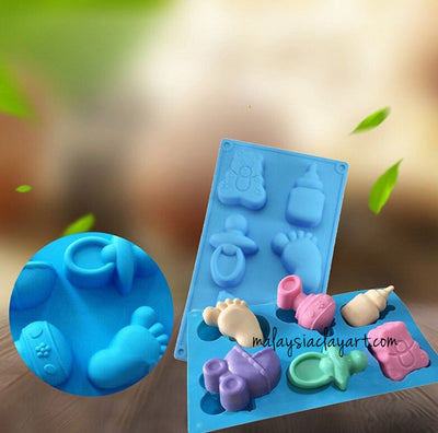 Baby Element Soap Silicone Molds 6 Cavity