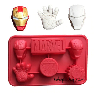 Ironman Marvel Silicone Mold | Soap | Resin