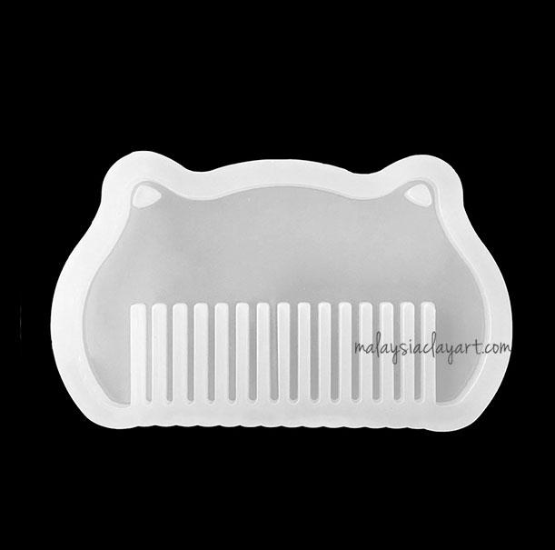 Comb Shaped Silicone Mold With 2 Holes | AB Resin