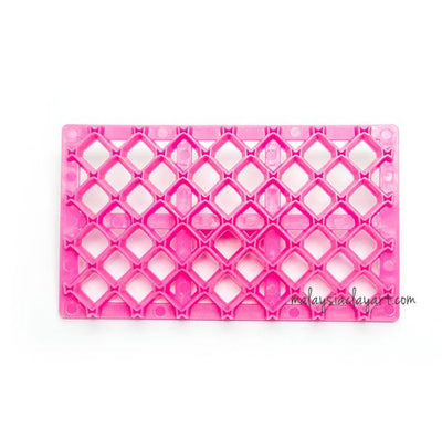 Ribbon Crosshatch Embossing Stamp Impression Mat
