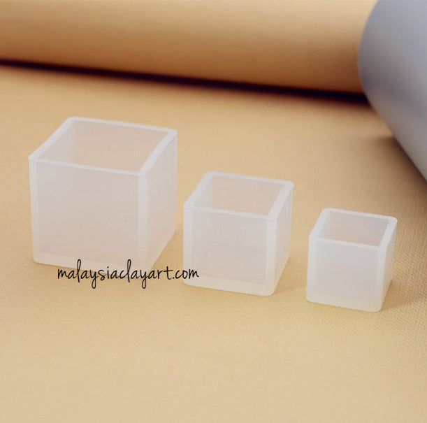 Square High Gloss 3 sizes Silicone Mold