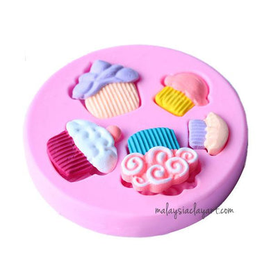 Cupcake Silicone Mold - 5 cavity